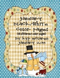 January Snowy Color Pages