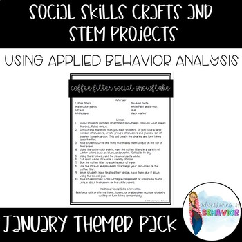 January Social Skills Craft Pack