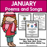 January Poems and Songs for Poetry Unit (Printable)