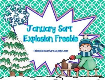 January Sort Explosion Freebie