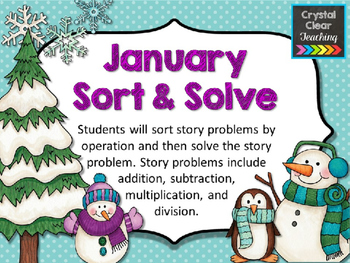 January Sort and Solve Story Problems