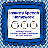 January Speech Homework