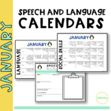 January Speech and Language Calendar