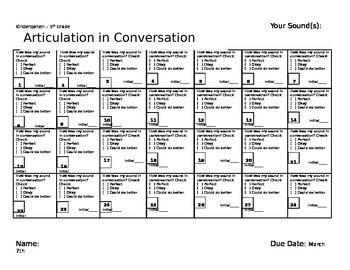 January Speech and Language Homework Calendars
