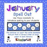 Months of the Year - January Spell Out