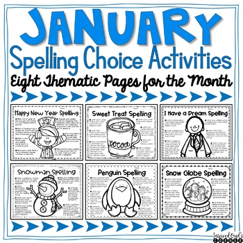 January Spelling Choice Activities