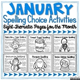 Spelling Activities for Any List of Words - January