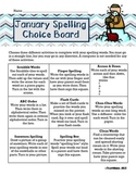 January Spelling Choice Board