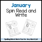 January Spin Read Write Template FREEBIE