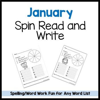 January Spin Read Write Template FREEBIE