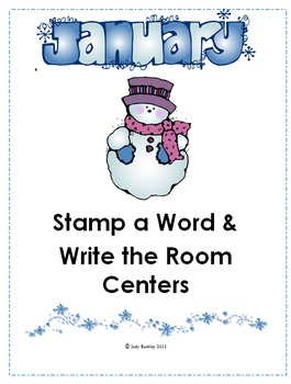 Winter Stamp a Word and Write the Room Centers