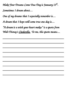 January Story Starters: Writing Ideas for Bell Work/Daily Journal Writing