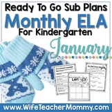 January Sub Plans ELA for Kindergarten. Winter Substitute Plans