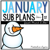 January Emergency Sub Plans for 1st Grade