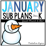 January Emergency Sub Plans for Kindergarten