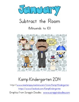 January Subtract the Room (Minuends to 10)