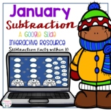 January Subtraction Google Slides