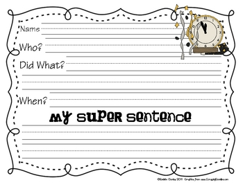 January Super Sentences