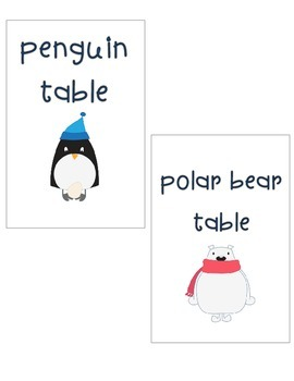 January Table Signs (for use with IKEA Tolsby frames)