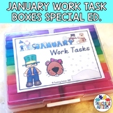January Task Boxes for Special Education and Autism