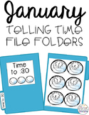 January Telling Time File Folders for Special Education