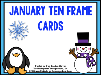 January Ten Frame Cards!