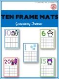 January Ten Frame Mats 1-20