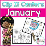 January Tens Frame Clip It Centers