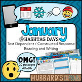 20 January Passages / January Writing Prompts / January Activities /Google Opt.