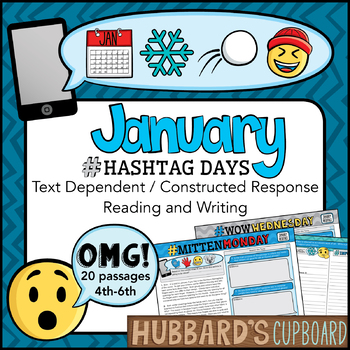 20 January Text Evidence Passages & Questions - Text Dependent Writing Bundle