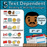 January Text Dependent Reading & Writing- Google Classroom Activities (Option 2)