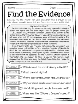 January Text Detectives Jr.- Text Evidence for 2nd Grade