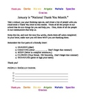 """January """"Thank You"""" Letters"""