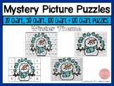 January Theme 20 Chart, 50 Chart, 100 Chart Mystery Picture Puzzles