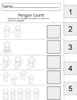 January Themed Activities-Penguins