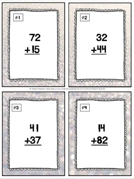 January Themed Adding & Subtracting Task Cards & Game 2.NBT.5