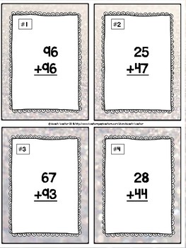 January Themed Addition With Regrouping Task Cards & Game