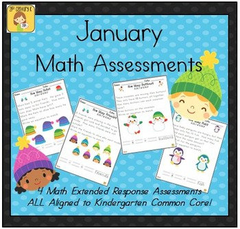 January-Themed Kindergarten Math Extended Response Bundle