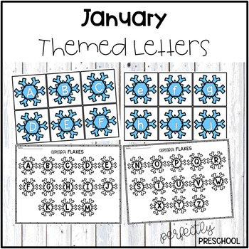 January Themed Letters