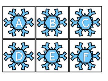 January Themed Sensory Bin Letters