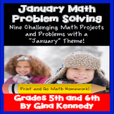 January Math Problem Solving Projects for Upper Elementary Students