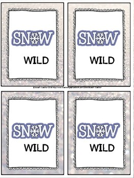 January Themed Subtracting Across 0 Task Cards & Game