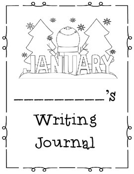 January Themed Take Home or Classroom Writing Journal