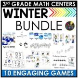 Winter 3rd Grade Math Centers BUNDLE
