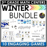 January Winter Third Grade Math Centers BUNDLE