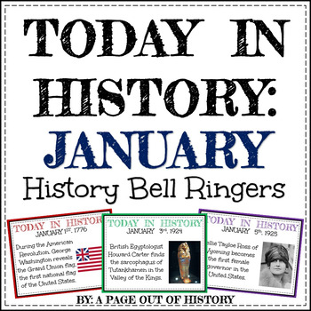 January bell ringer teaching resources teachers pay teachers january today in history bell ringers editable fandeluxe Images