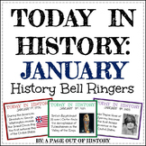 January Today in History Bell Ringers (EDITABLE)