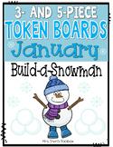 January Token Boards: Build-a-Snowman!