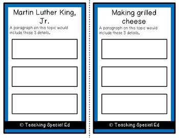 January Topic and Detail Cards