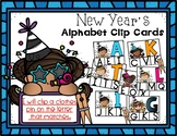 January Uppercase Clip Cards